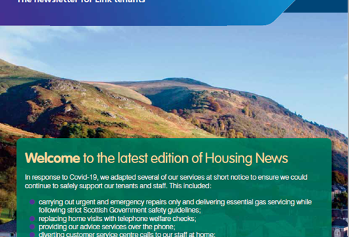 Front cover of issue 2 of Housing News
